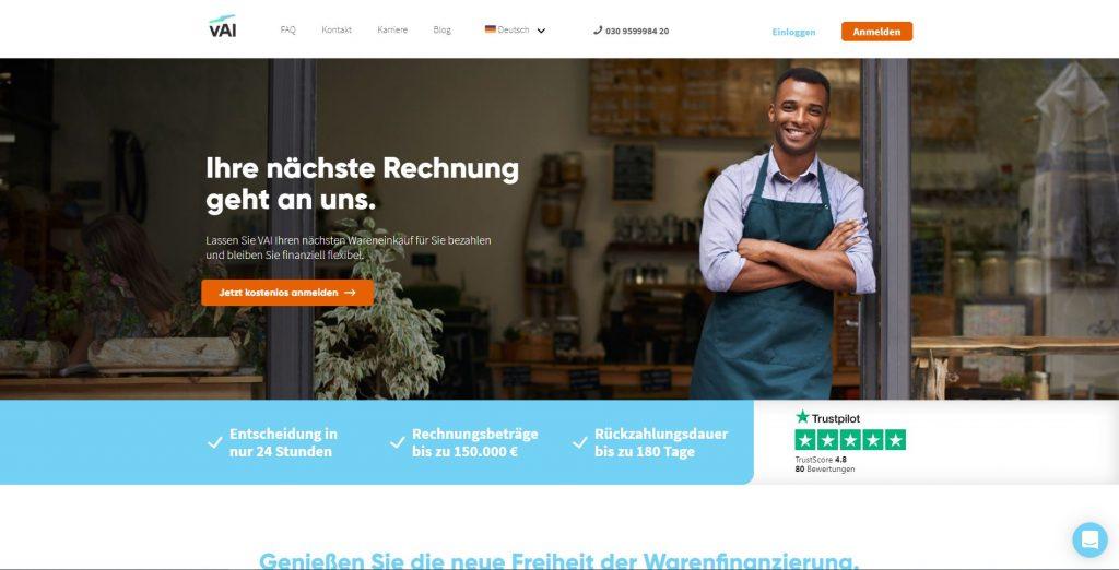 Die Website von VAI.